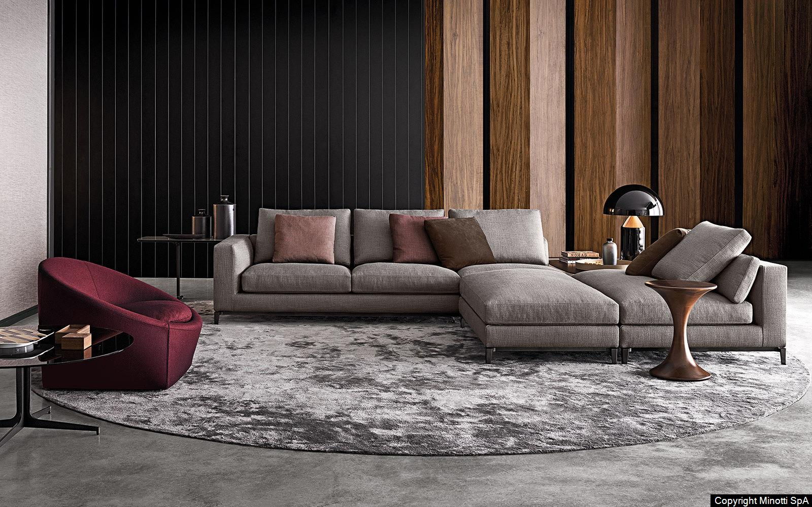 minotti raw interiors. Black Bedroom Furniture Sets. Home Design Ideas